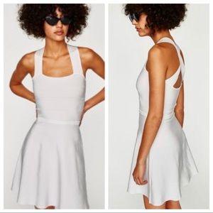 NWT. Zara Knit Dress with Criss Cross Back. Size M